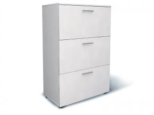 Шкаф для документов офисный на 3 файловых ящика 80х120х42 арт. Ur-233f